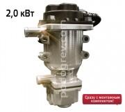 Подогреватель двигателя  с циркуляционным насосом 220В Северс+ 2,0 кВт (в сборе с универсальным монтажным комплектом)